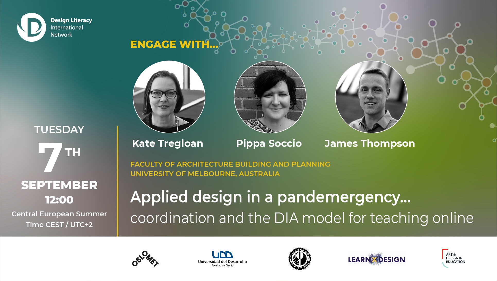You are currently viewing Engage with Kate Tregloan, Pippa Soccio & James Thompson | Design Literacy International Network event